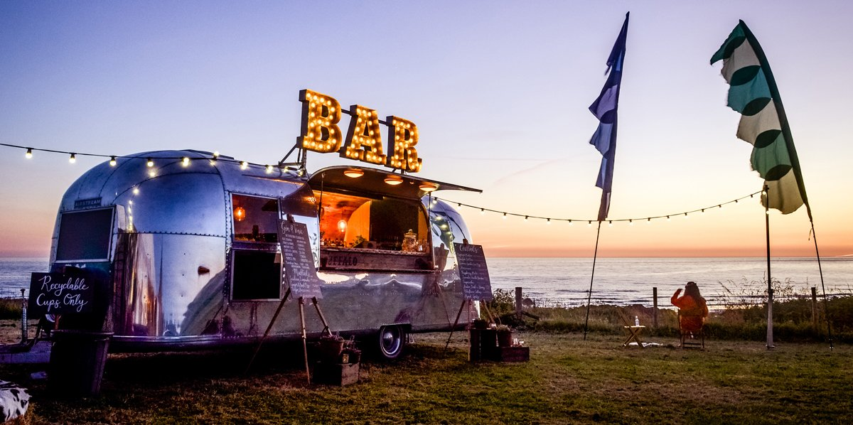 Beautiful Airstream festival bar mobile bar