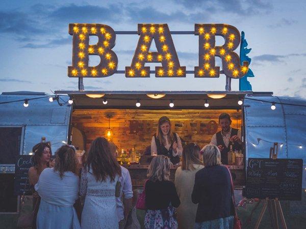 The Buffalo Party Bar wedding bar sign