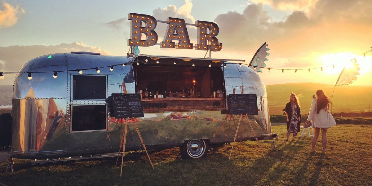 Best Dry Hire Airstream Mobile Bar for Brand Promotion