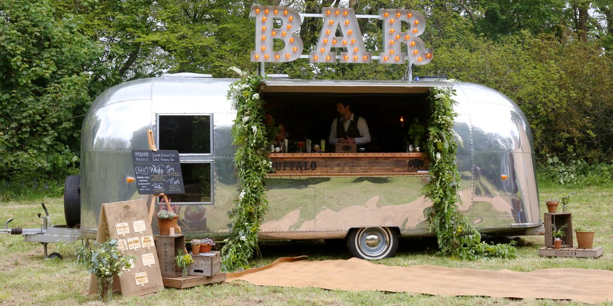 Vintage Airstream Festival Bar